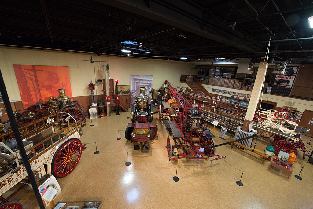 Interior view of the Fire Museum of Maryland
