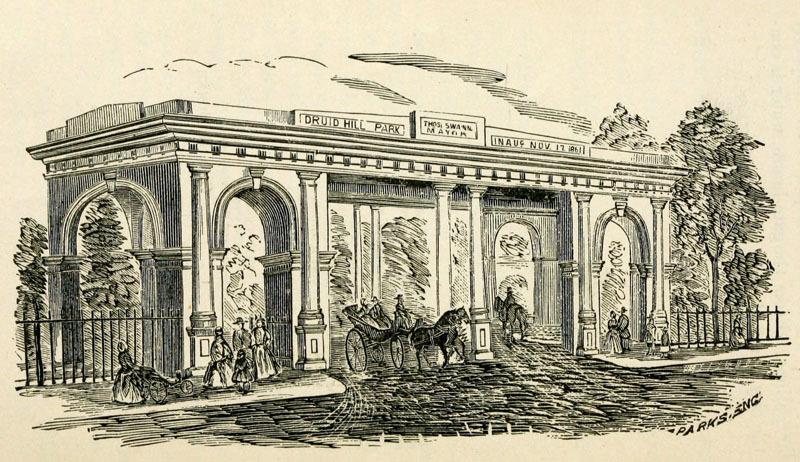 Druid Hill Park Entrance (c. 1888)