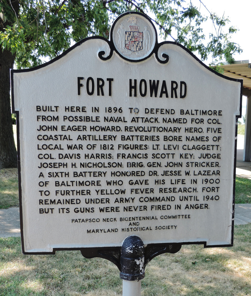 Historic marker, Fort Howard