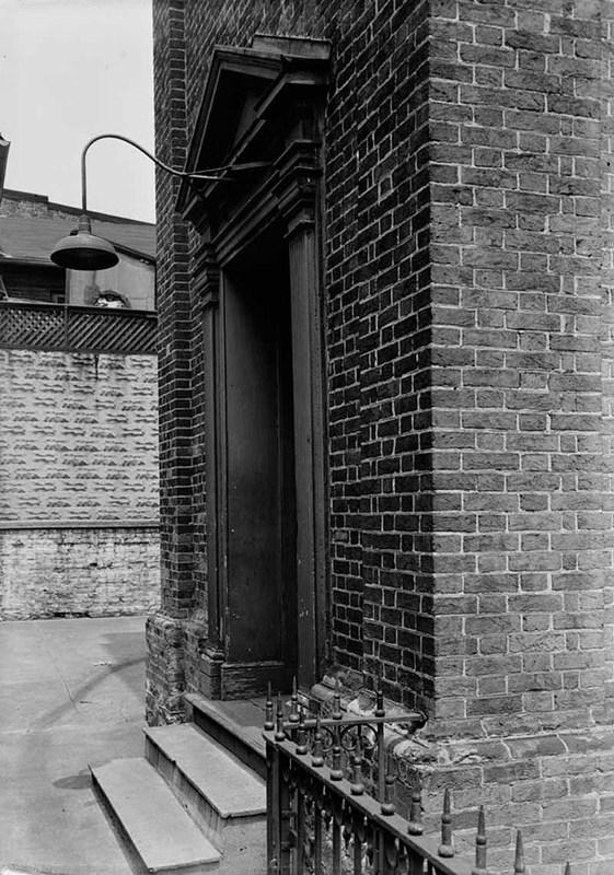 West entrance, Otterbein United Brethren Church (July 1936)