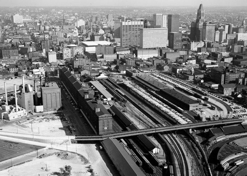 Camden Yards, looking north (1977)