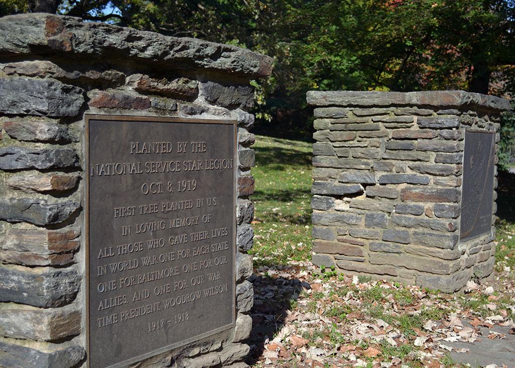 Marker, Grove of Remembrance Pavilion