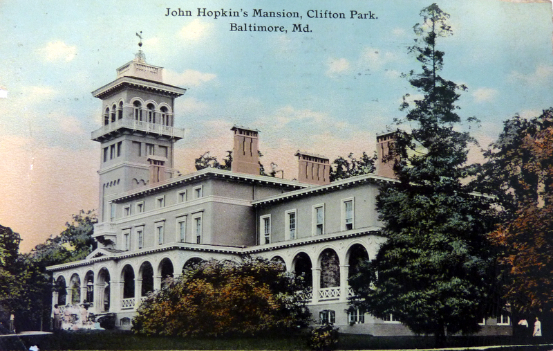 Postcard, Clifton Mansion