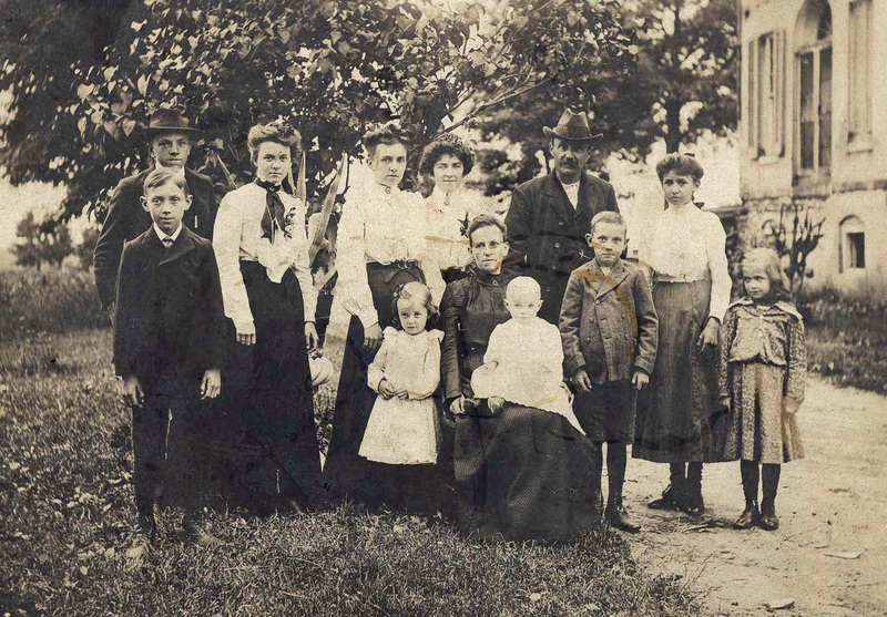 Dunty Family at Perry Hall Mansion (c.1900)