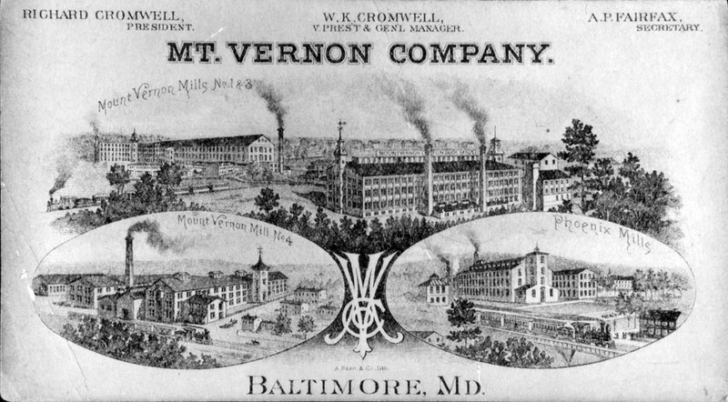 Mt. Vernon Textile Company Advertisement (late 1800s)