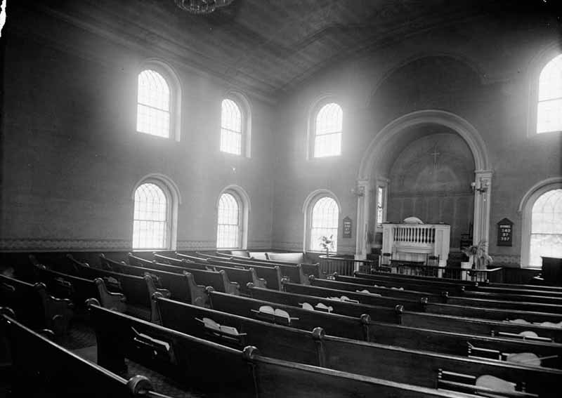 Otterbein United Brethren Church Interior (July 1936)