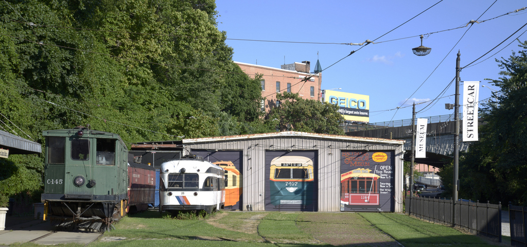 Streetcar storage, Baltimore Streetcar Museum (2015)