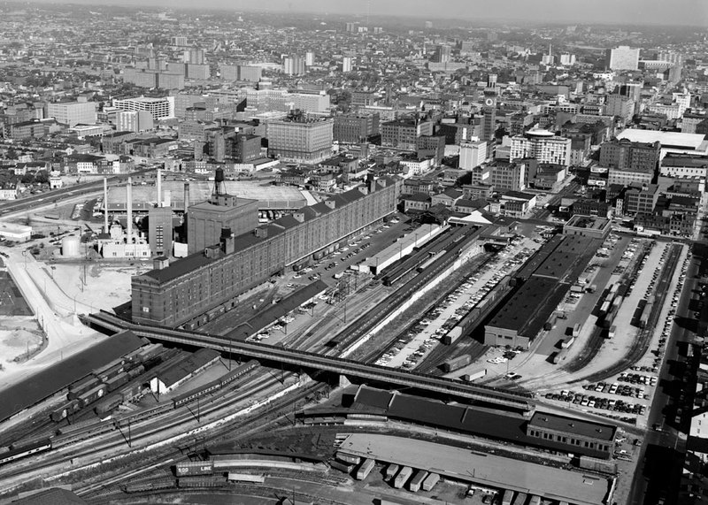 Camden Yards, looking northwest (1977)