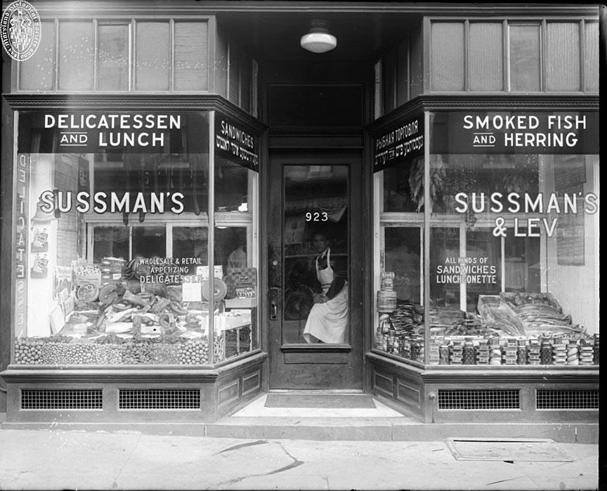 Store front, Sussmen�™s & Lev Delicatessen (1927)