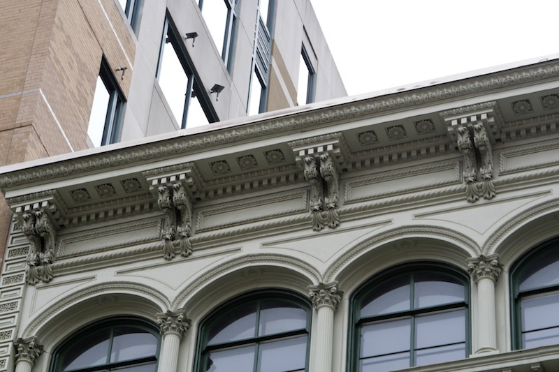 Cornice detail, Faust Building (2012)