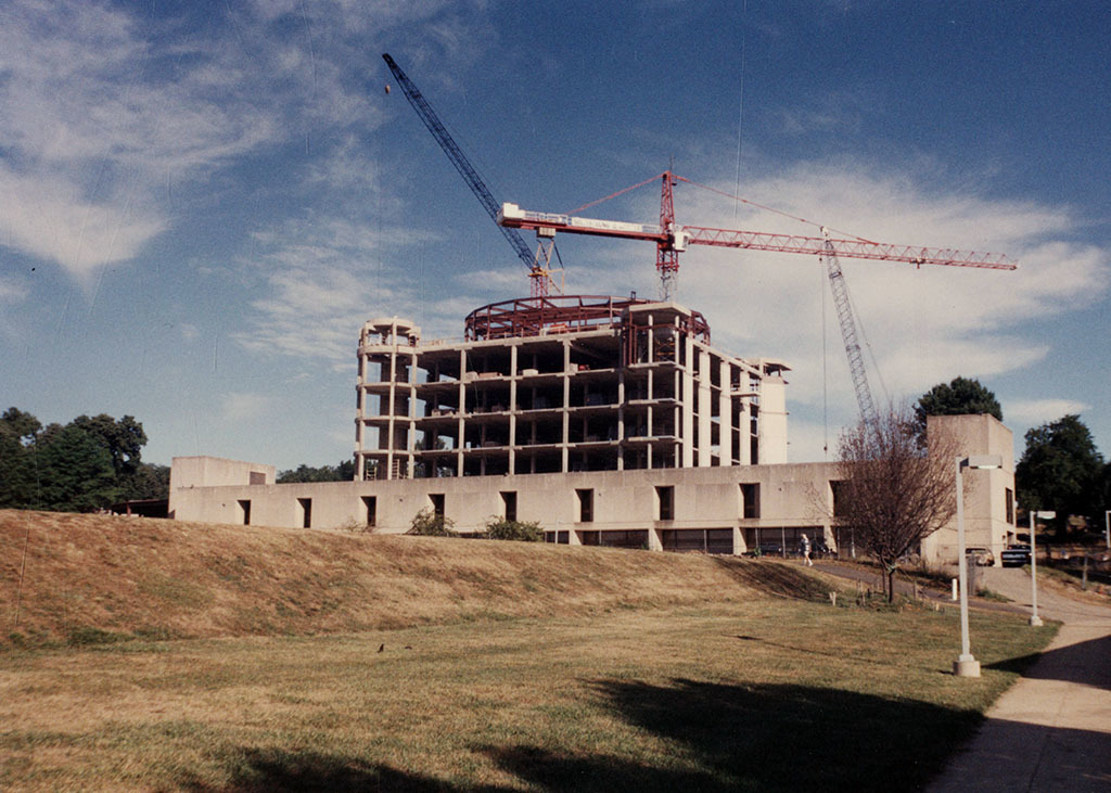 UMBC Library Tower under construction