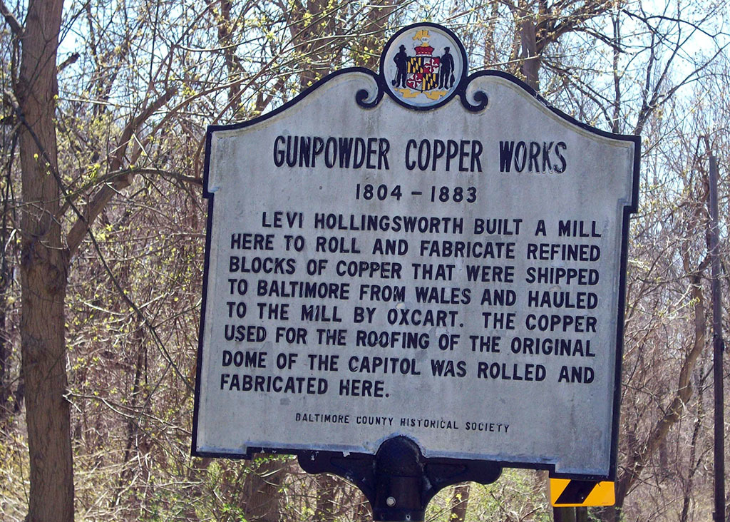 Gunpowder Copper Works Historic Marker