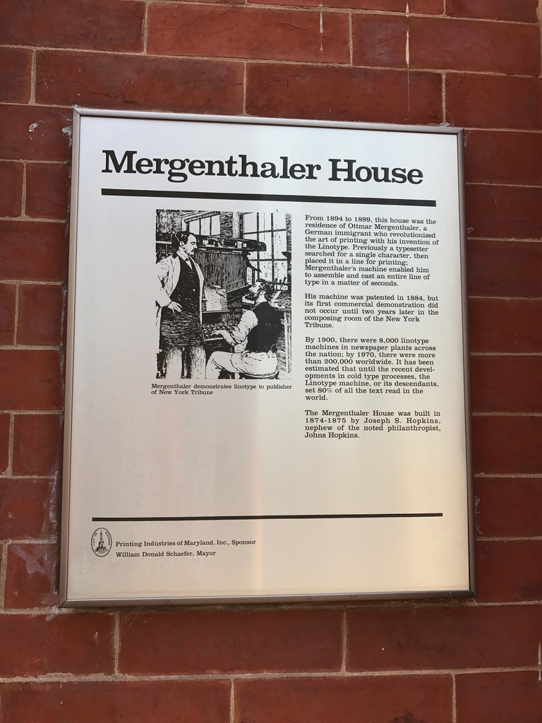 Plaque, Mergenthaler House