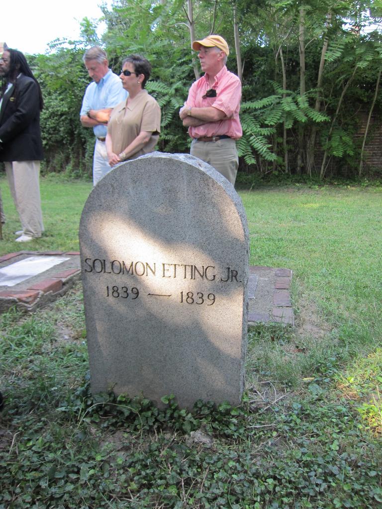 Solomon Etting, Jr., Etting Cemetery (2011)