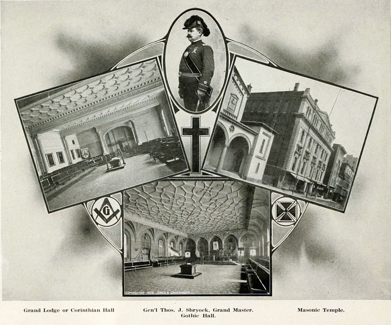 General Thomas J. Shyrock and the Masonic Temple (c. 1906)