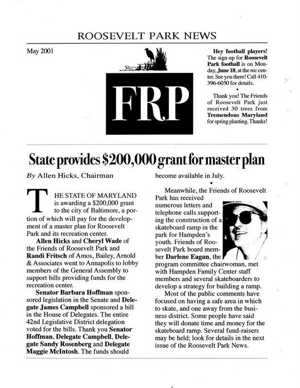 FRP Newsletter (May 2001)