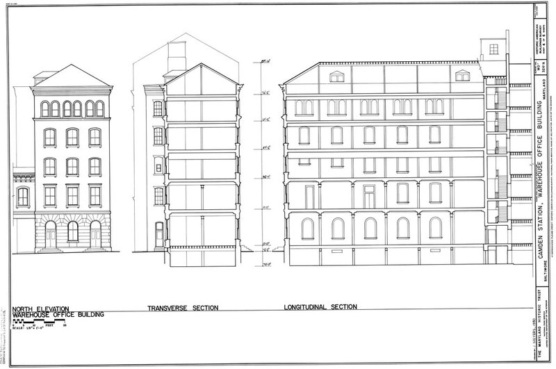 B&O Warehouse Section views (1980)