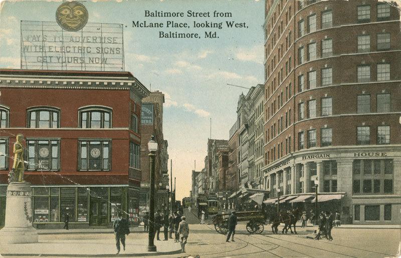 Baltimore Street Looking West (c. 1914)