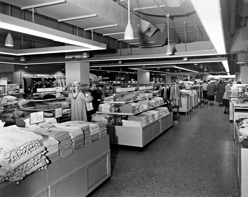 Linens Department, Hutzler's (c. 1941-58)