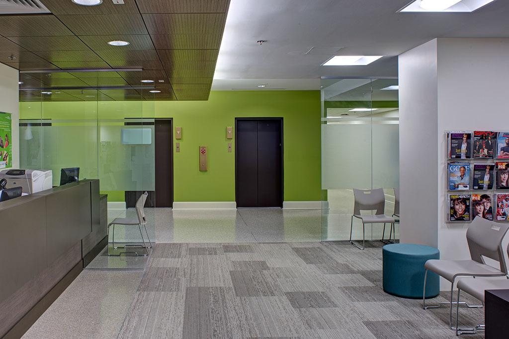 Waiting area, Chase Brexton Health Center