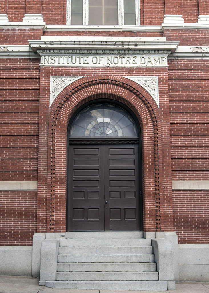 Entrance, Institute of Notre Dame