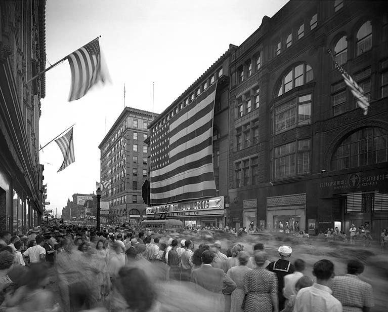 VJ Day Parade on Howard Street (1945)