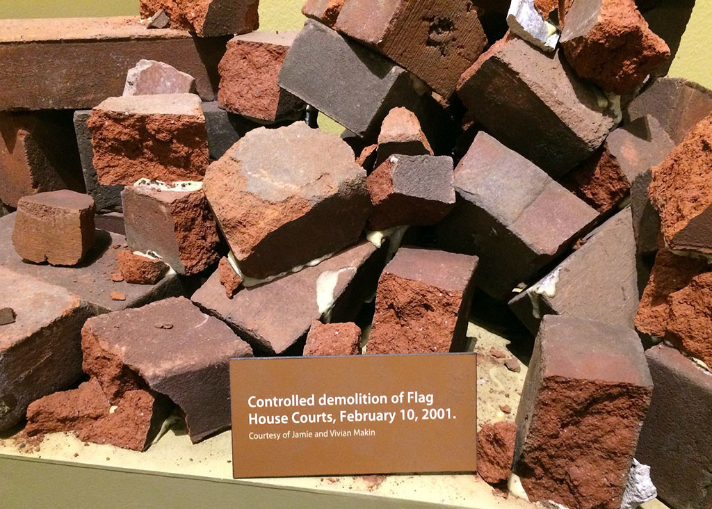 Bricks from Flag House Courts