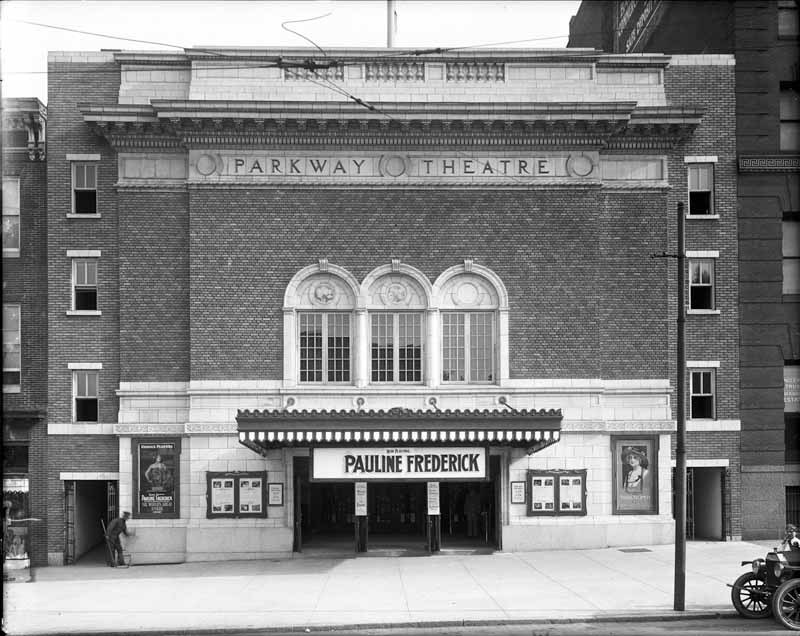 Front facade of the Parkway Theatre (1915)