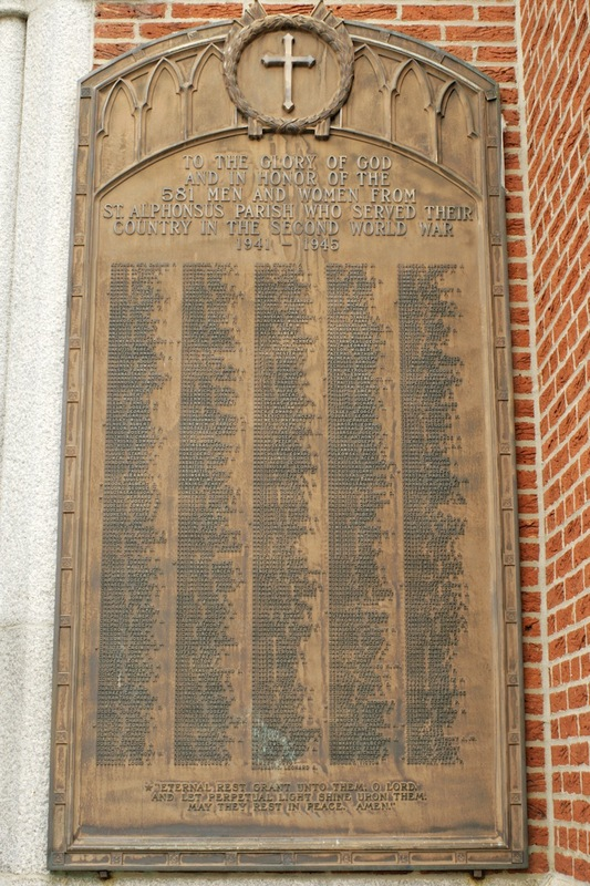 Commemorative Plaque, St. Alphonsus Church (2012)