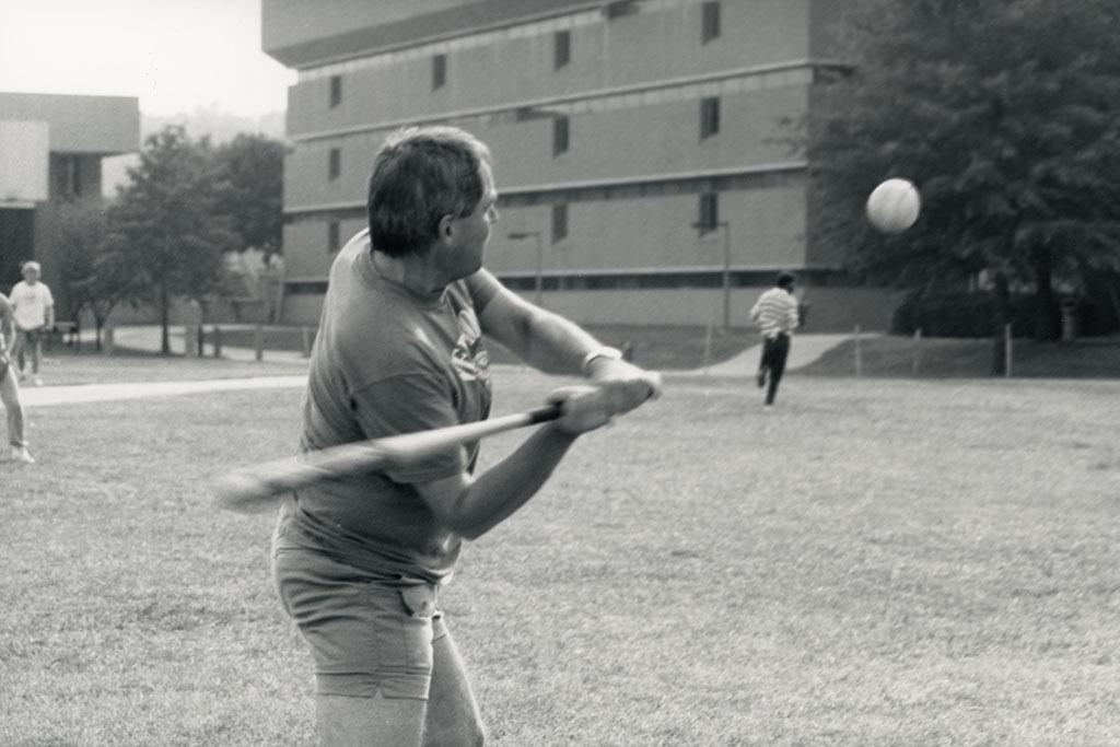 Baseball on the Quad