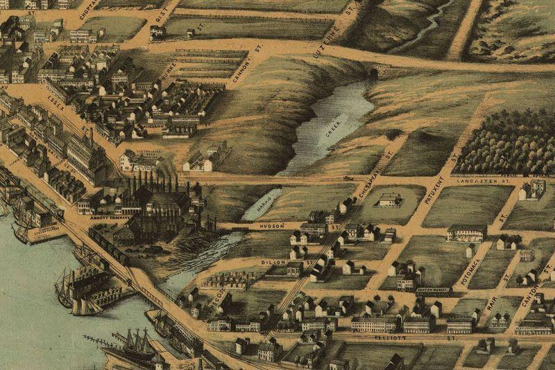 Harris Creek, 1869